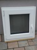 Okno biele, š 600 x v 600 mm otváravo- sklopné (OS) so sklom DKČ (dubová kôra číra) cena 69€