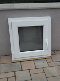 Okno biele, š 600 x v 600 mm otváravo- sklopné (OS) s čírym sklom cena 63€