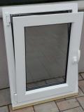 Okno biele, š 600 x v 800 mm otváravo- sklopné (OS) s čírym sklom - funkcia sklopné.