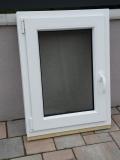 Okno biele, š 600 x v 800 mm otváravo- sklopné (OS) s čírym sklom cena 66€