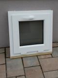 Okno biele, š 550 x v 550 mm sklopné (S) s čírym sklom cena 49€