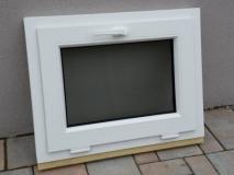 Okno biele, š 700 x v 550 mm sklopné (S) so sklom DKČ (dubová kôra číra) cena 62€